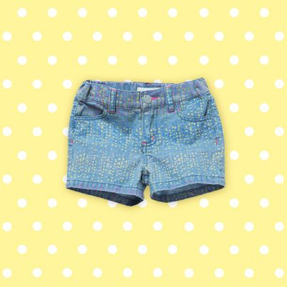 Pumpkin Patch Print Denim Shorts - available in sizes 12-18m to 6 years http://www.pumpkinpatchkids.com/