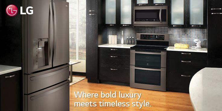 Fortune favors the bold. #LGKitchen #kitchen #stainlesssteel http://www.lg.com/us/discover/black-stainless-steel-series