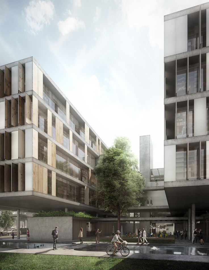 Mixed-use building on Behance