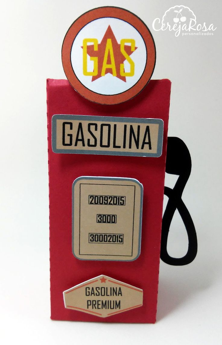 Caixa Bomba Gasolina Festa Carros                                                                                                                                                      Mais