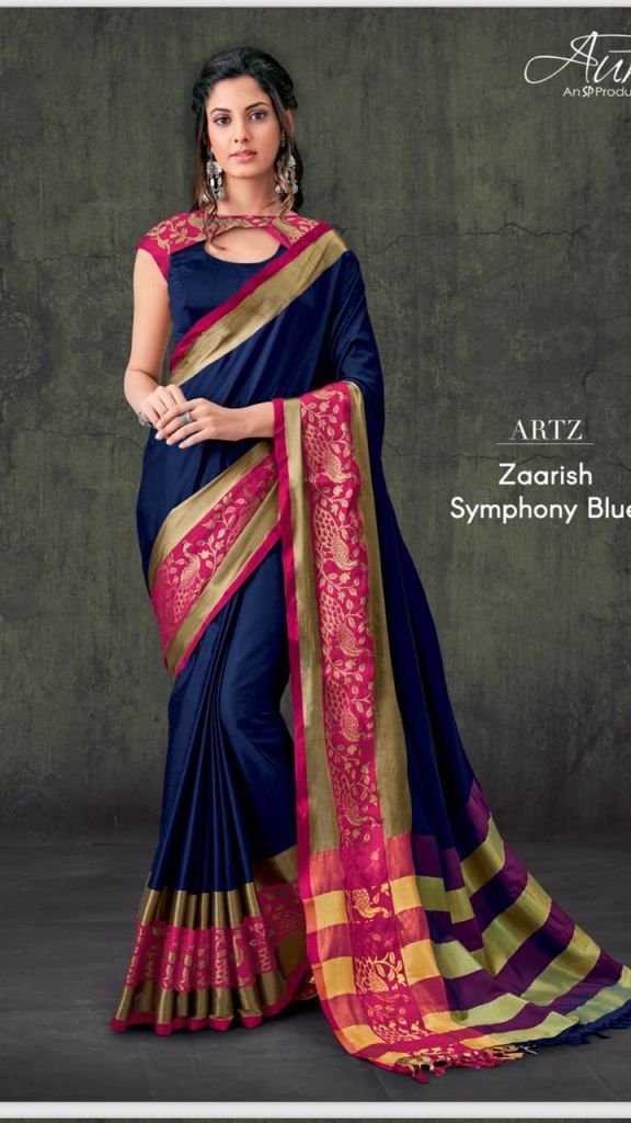 c4d1062e02d4a Beautiful designer pure cotton Sarees with jacquard border . Fashid  Wholesale gives a range of ethnic wear and Sarees by famous designers.