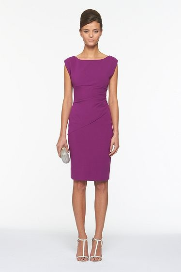 Such a flattering dress... One in every color please! #dvf