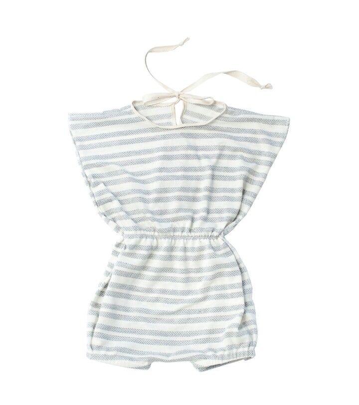 Girl handmade stripes romper for baby and toddler 0-6 www.lezalie.com canadian store