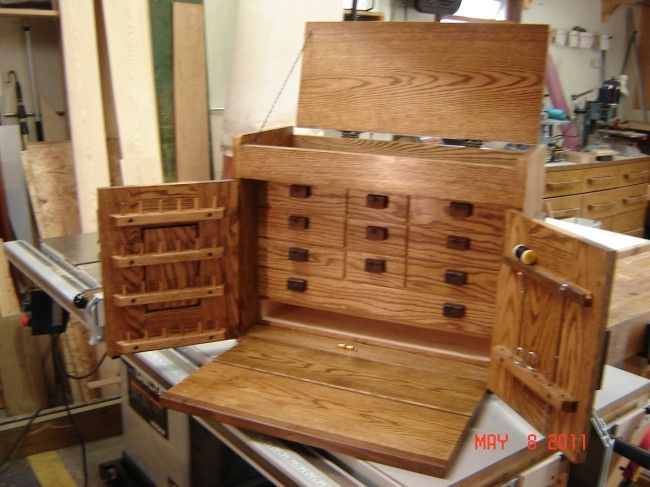 Wooden Fly Box Plans | Ray's Fly Tying Cabinet | woodworking | Pinterest | Storage boxes ...