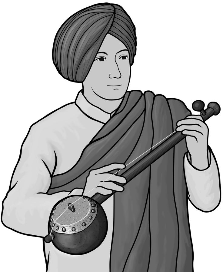[ tumbi ] plucked string instruments. Indian necked lutes.