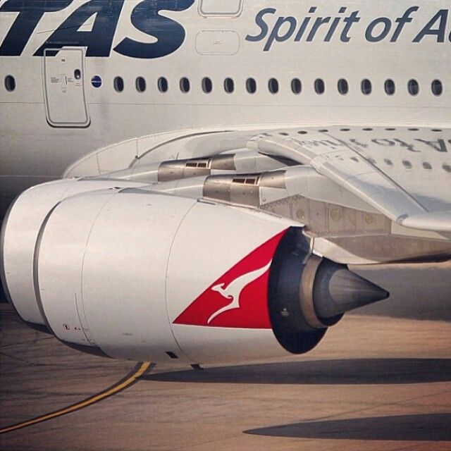 Qantas A380 powered by Rolls Royce Trent 900 engines @qantasaviation