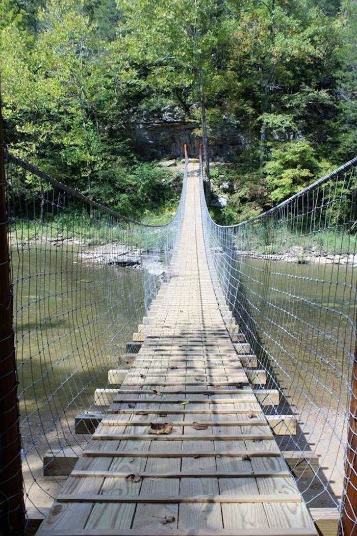 Located in Ritner, Kentucky, just on the outskirts of Daniel Boone National Forest, the newly restored Swinging Bridge is a unique adventure in this already adventurous area of our state.