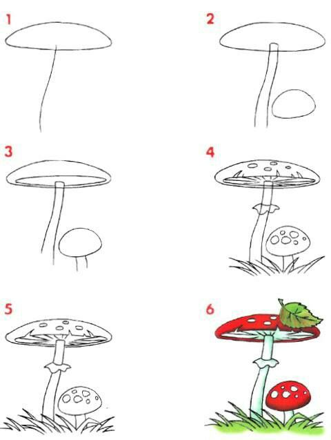 How to draw follow for too neat not to keep for How to draw a mushroom