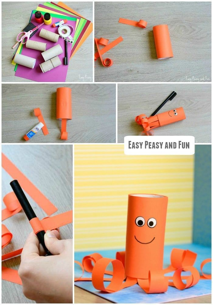 Toilet Paper Roll Octopus Craft Paper Roll Crafts Toilet Paper