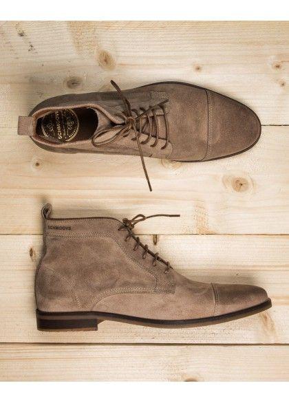 Boots en suédé beige