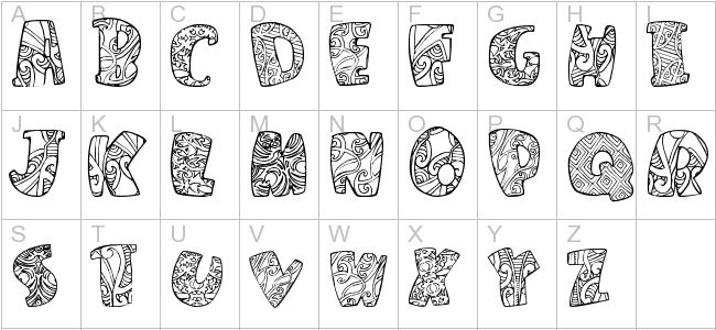 25 Best Māori Font Images On Pinterest