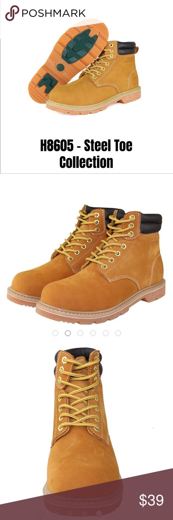 NEW MEN working Steel toe boots! Waterproof! NEW MEN collection steel toe boots! Brand:Jacata! Most sizes are available! Top quality leather! Other styles available! Waterproof! Steel Toe Working boots! Made in China! Shoes Boots