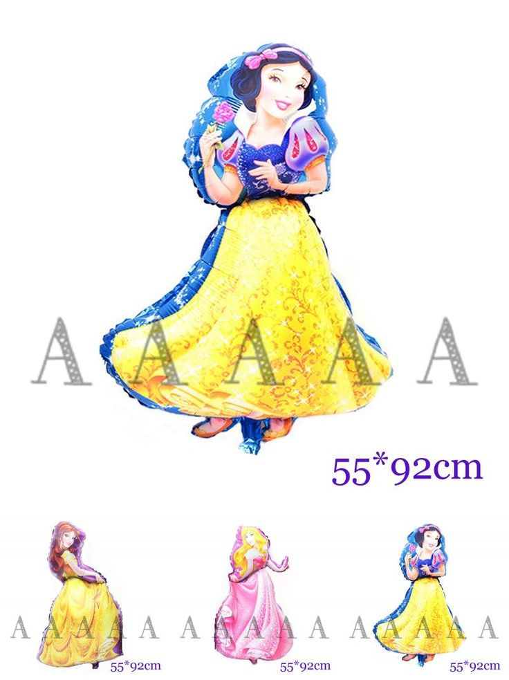 [Visit to Buy]  2pcs large princess foil balloons cartoon character elsa snow white helium balloon birthday wedding decoration party supplies #Advertisement