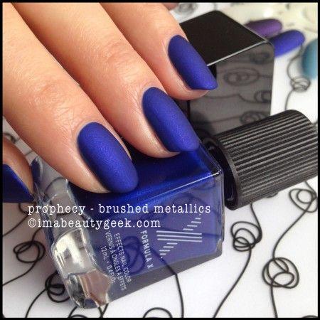 Formula X Prophecy (Brushed Metallics Sephora) matte cobalt blue nail polish