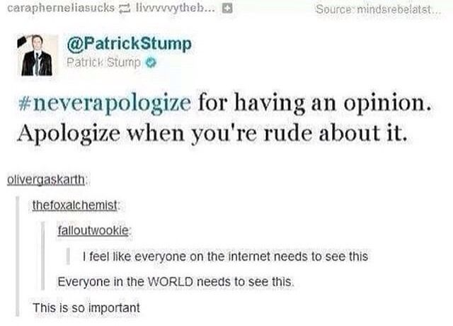 Patrick Stump is an amazing human bring his tweets ate some of my favorite thing in the world