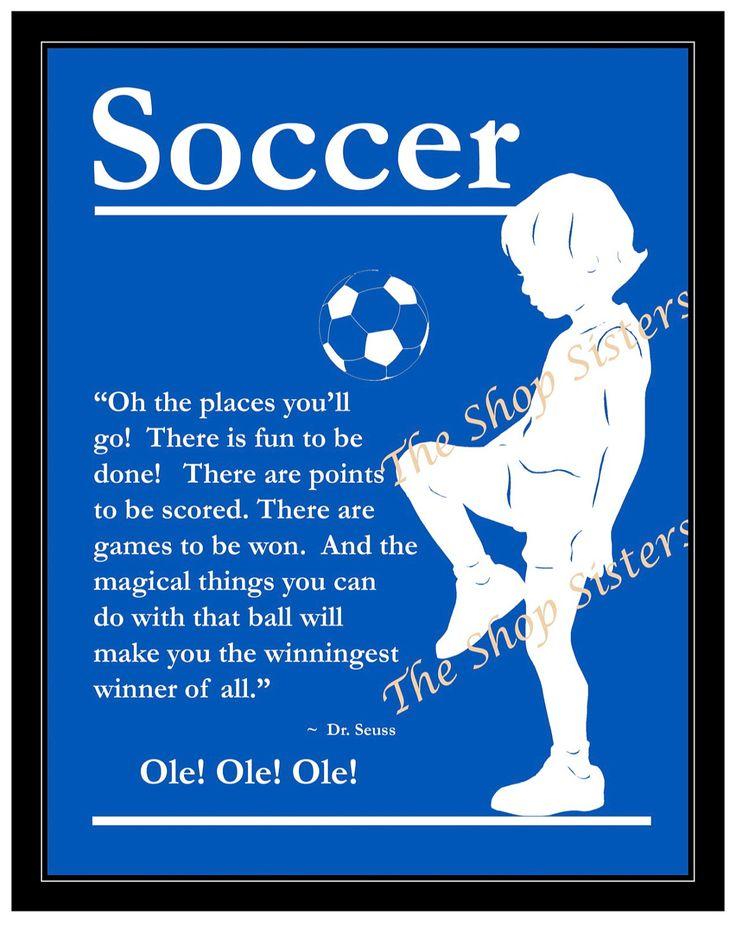Soccer Boy Olympics Team Silhouette  Blue 8 x 10 Print Wall art FREE SHIPPING Inspirational. $15.00, via Etsy.