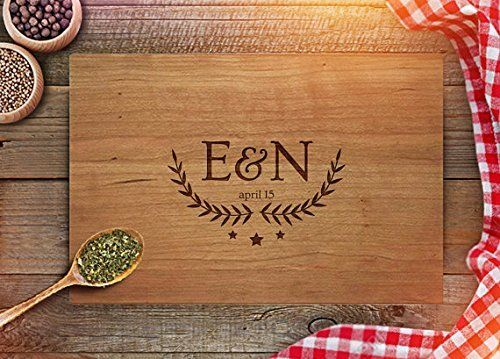 Personalized Cutting Board - Custom Anniversary Gift - Engraved Cutting Board - Initials - Est. Date Engraving - Wedding Present - CB216 (Maple, 9x12 Handle), http://www.amazon.com/dp/B01MCXET4O/ref=cm_sw_r_pi_awdm_x_j6IdybWW1YXTX