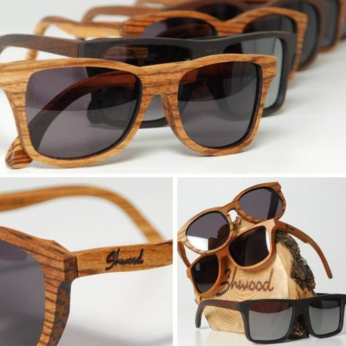 wood sunglasses, very cool.