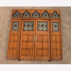 Antique Room Divider with Pair of Doors - 6778