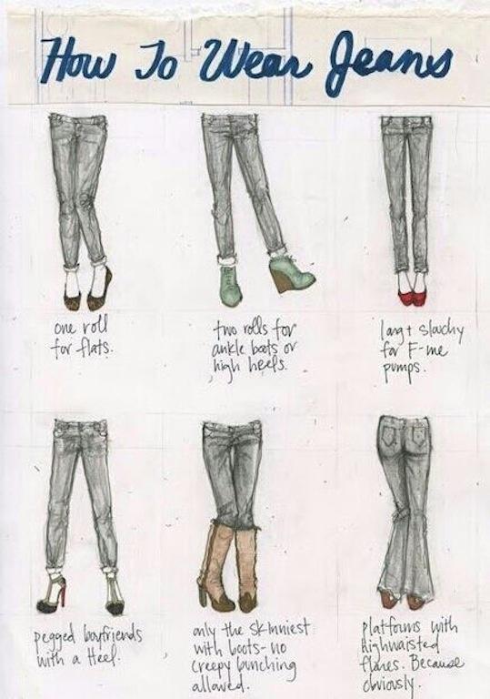 cute jean tutorial sketches  LifeInHighHeelsBlog