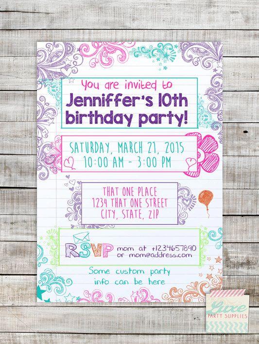 Teenage Girl Birthday Invitations Free Printable Barca