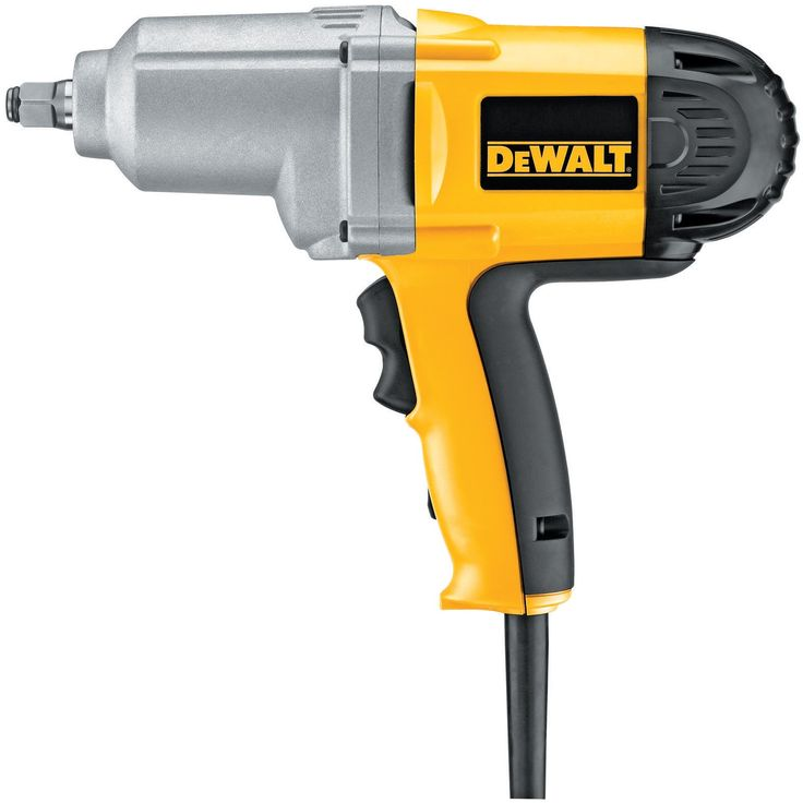 DEWALT DW293 7.5-Amp 1/2-Inch Impact Wrench with Hog Ring Anvil. Capable of 345 lbs./ft. of deliverable torque in forward and reverse. 1/2-inch hog ring anvil for secure socket retention. 7.5 Amp motor performs at 2,000 RPM and produces 2,700 impacts per minute. Soft grip handle for superior ergonomics. Measures 11-1/2 inches long and weighs seven pounds.