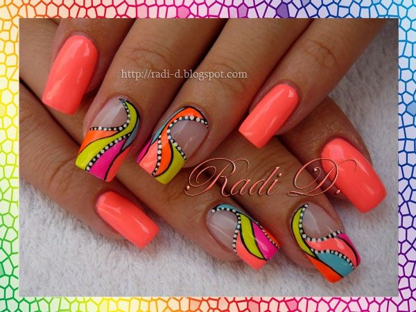 Neons 3 by RadiD - Nail Art Gallery nailartgallery.nailsmag.com by Nails Magazine www.nailsmag.com #nailart