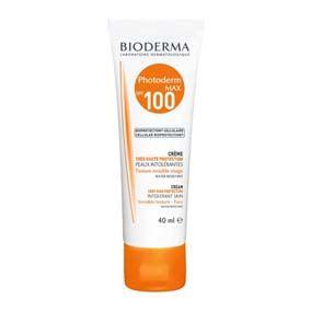 Bioderma Photoderm Crema Protección solar spf 100 / rostro, para piel seca, resistente al agua y al sudor. Textura cremosa.