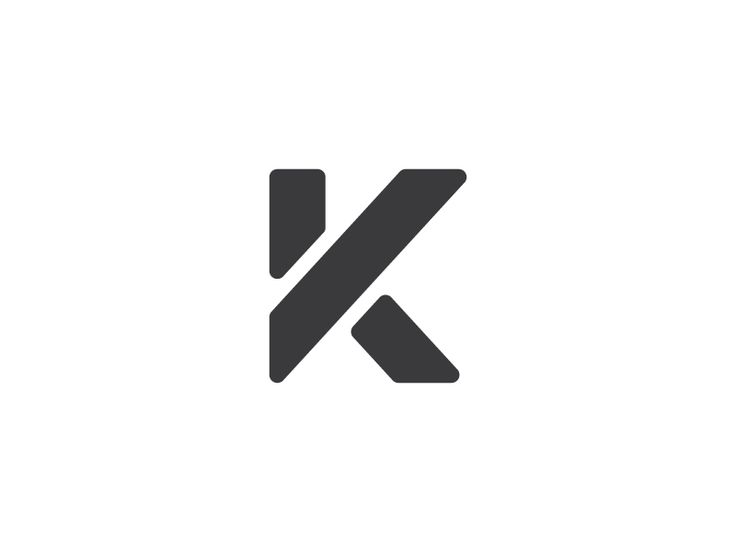 minimalist lette...K Logo
