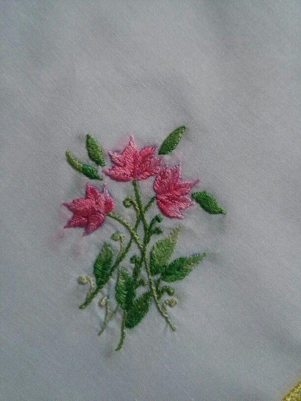 Hand embroidered hankie