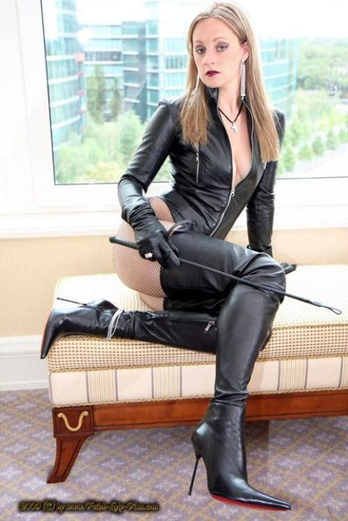 """rumlexa: """"lady Ann in leather/ """" Here slave… come worship ..."""
