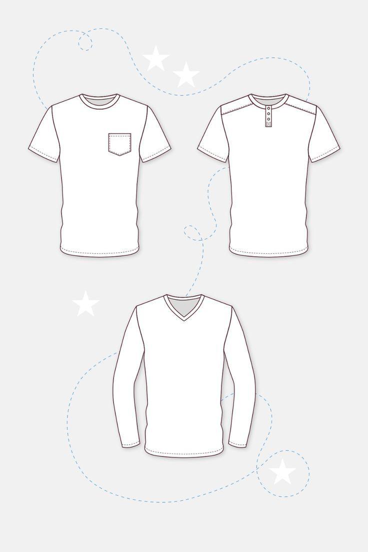 Schnittmuster Männer Shirt Anleitung technische Zeichnung