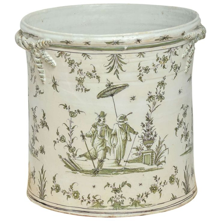Exceptionally Large 18th Century Moustiers Faience Jardiniere