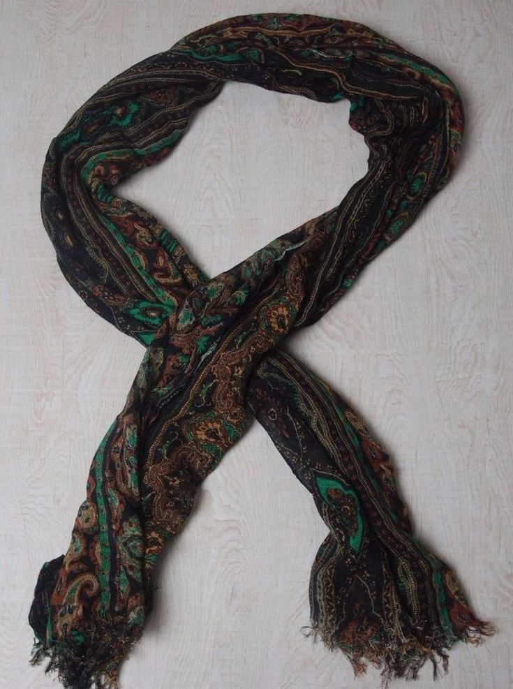 CODELLO SCARF Shawl Paisley ACRYLIC MULTICOLOR KNIT Rectangle BIG LONG 70'' 24'' | Clothes, Shoes & Accessories, Women's Accessories, Scarves & Shawls | eBay!