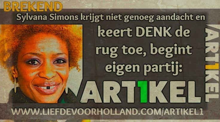 Sylvana Simons weg bij Denk, begint nieuwe partij: Artikel 1