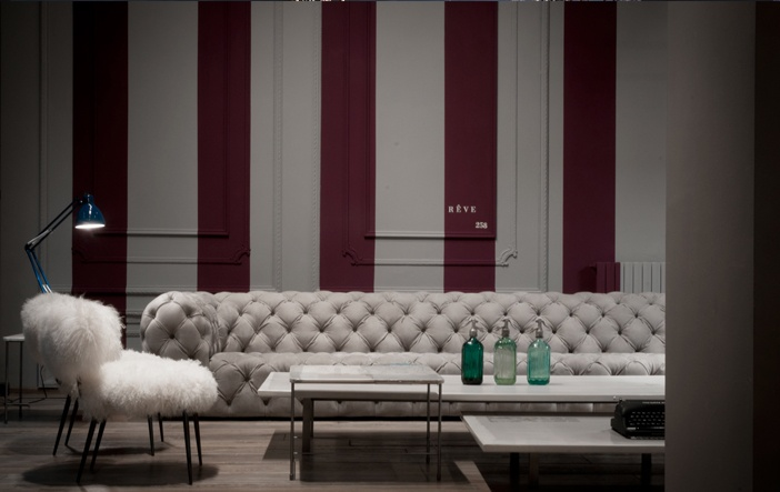 Chester Moon Sofa and Nepal Chairs Designed By Paola Navone for Baxter