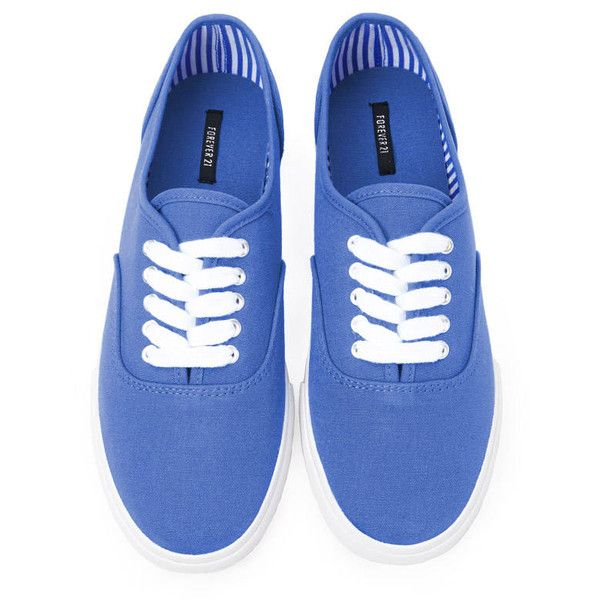 Forever 21 Classic Canvas Plimsolls ($13) ❤ liked on Polyvore featuring shoes, sneakers, zapatillas, zapatos, periwinkle, canvas platform sneakers, cushioned shoes, platform canvas shoes, platform sneakers and graduation shoes