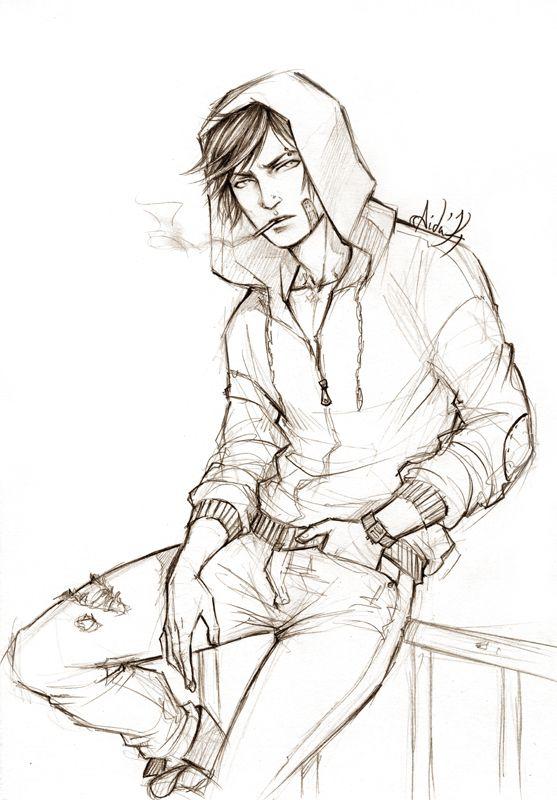 Random OC by Lehanan.deviantart.com on @deviantART . Character Sketch / Drawing