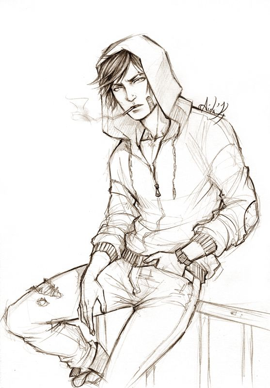 Random OC by Lehanan.deviantart.com on @deviantART . Character Sketch / Drawing