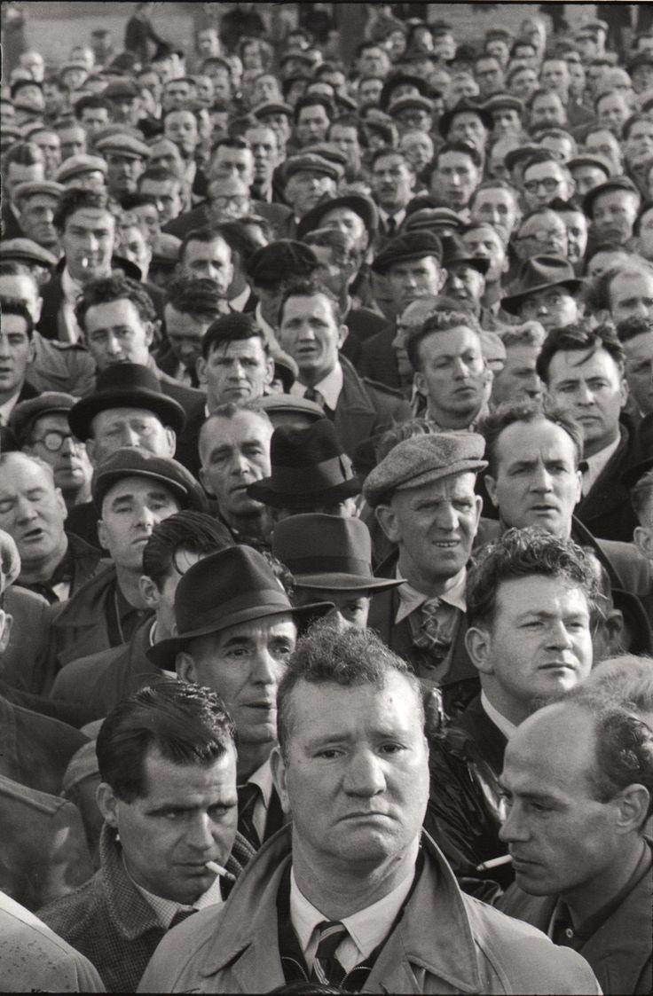 Dockers' strike in London, 1954 by Marc Riboud - Magnum