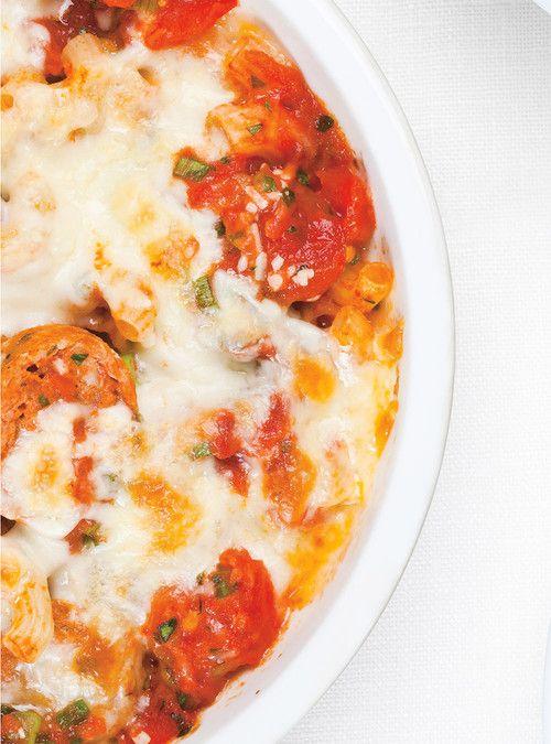 Macaronis aux tomates et aux saucisses italiennes Recettes   Ricardo