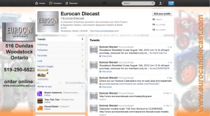 EuroCanDieCast Twitter Customization by Fresh Idea