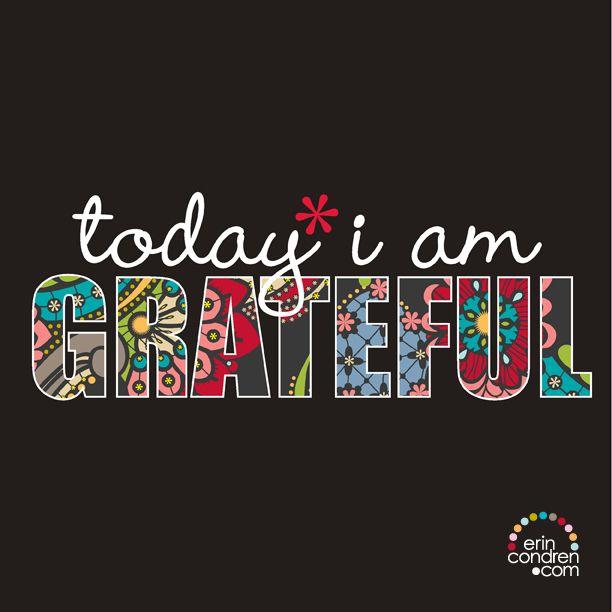 today I am GRATEFUL #erincondren #ECquotes #quotes