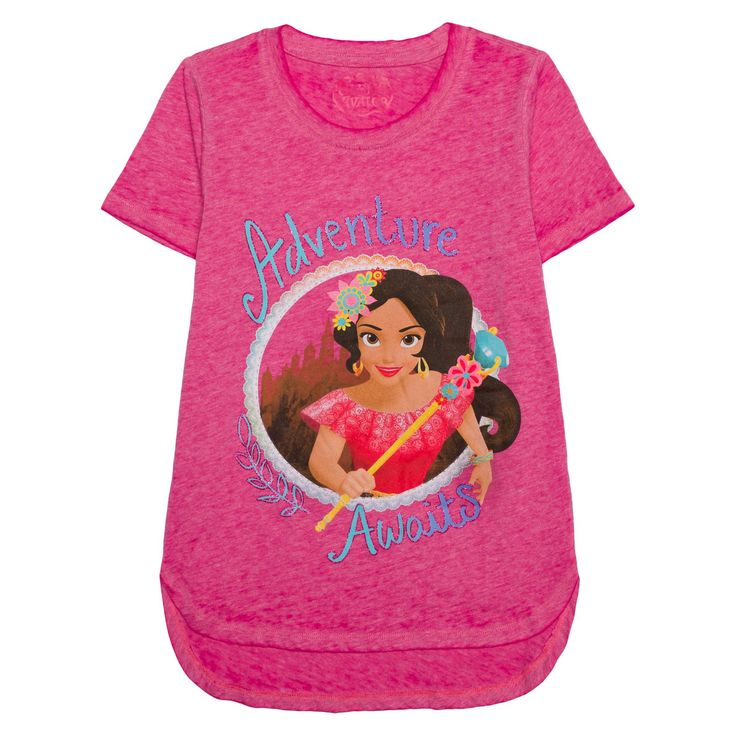 Plus Size Girls' Elena Of Avalor T-Shirt - Pink XL Plus