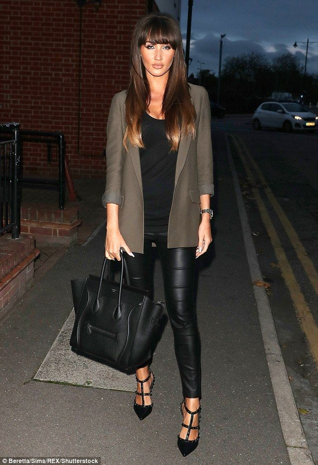 Megan McKenna looks stylish in skin-tight leather trousers | Megan mckenna Romance and Leather ...