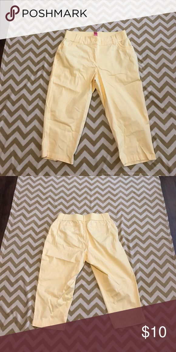 Women's Yellow trousers size 16 Women's yellow trousers Women Within  Pants Trousers