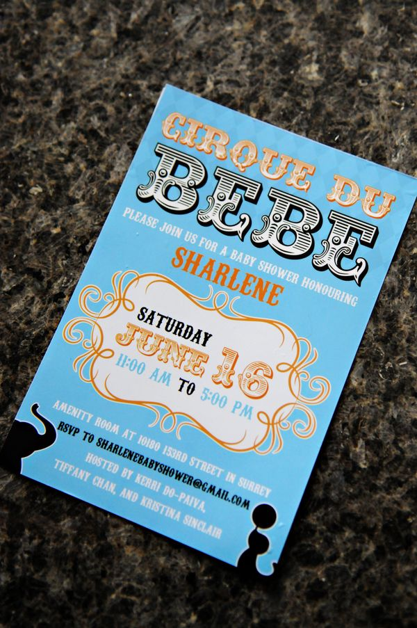 baby shower invitation wording for bringing diapers%0A Cirque de bebe baby shower invitation photographed by Amy Williams  Photography Dolinger