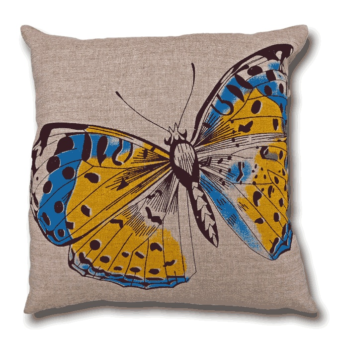 Colourful Butterfly Cushion - www.lotsofcushions.co.uk