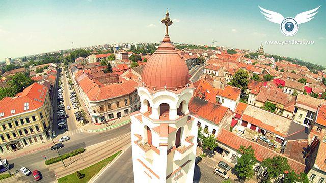 Biserica Ortodoxa din Piata Sinaia, Timisoara, Romania | Dronestagram
