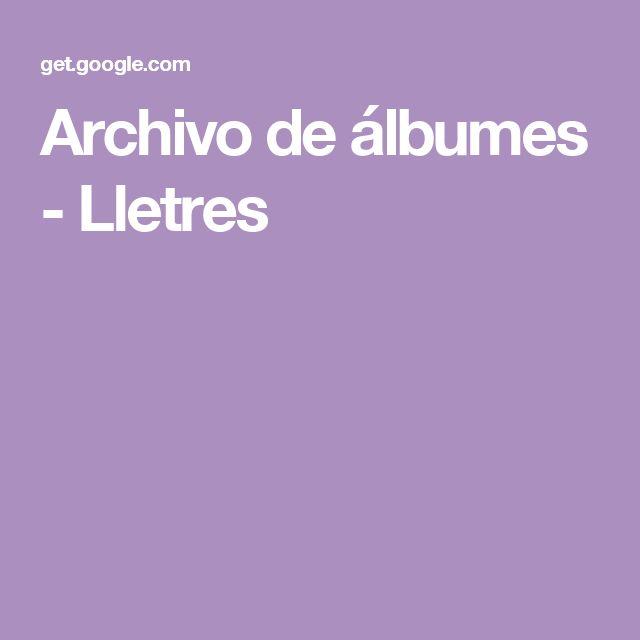 Archivo de álbumes - Lletres
